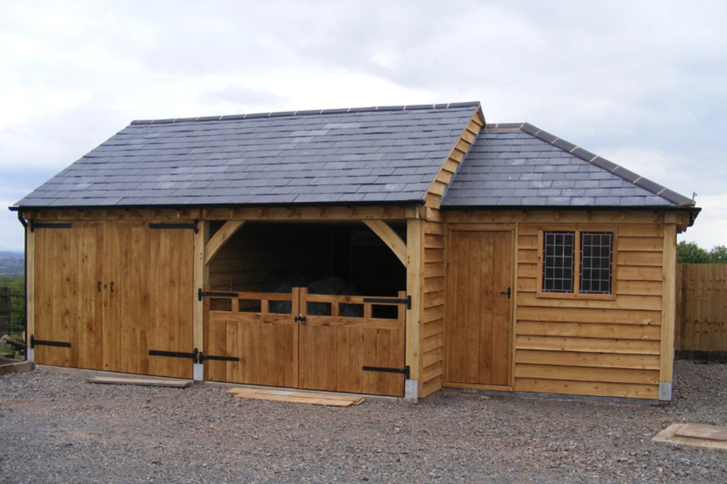 Oak Garage Swing Doors