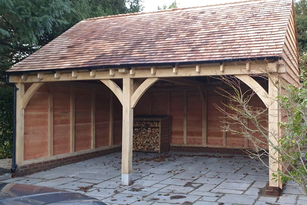 2 Bay Garage With Cedar Shingle Roof